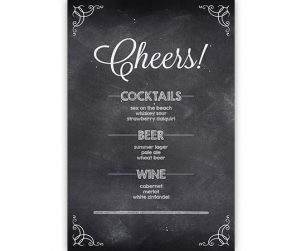 Bar Menu Option 2