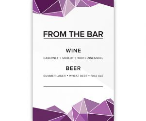 Bar Menu Option 3
