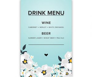 Bar Menu Option 6