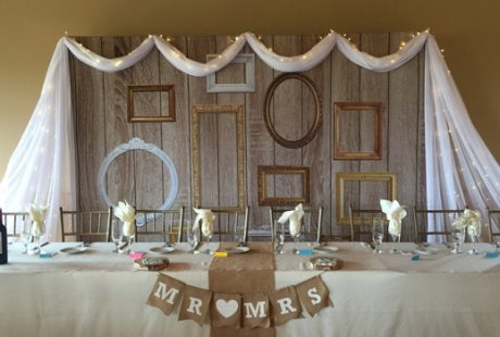 Vintage Frames Backdrop Head Table Best Wedding Backdrops