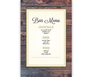 Bar Menu Option 6