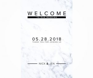 Reception Welcome Sign Option 1