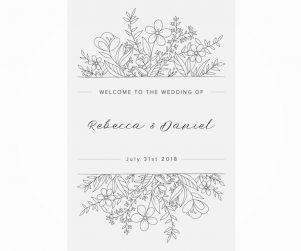 Reception Welcome Sign Option 10