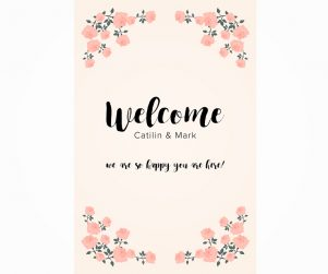 Reception Welcome Sign Option 2