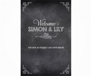 Reception Welcome Sign Option 3