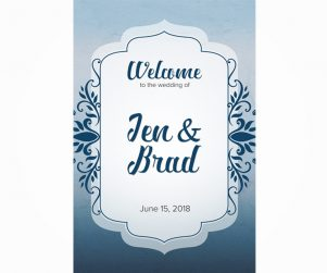 Reception Welcome Sign Option 4