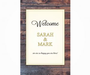 Reception Welcome Sign Option 6