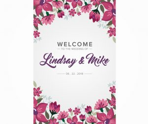 Reception Welcome Sign Option 8