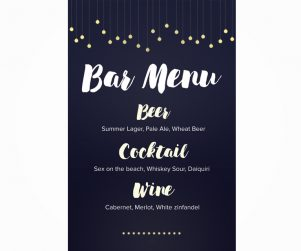 Bar Menu Option 7