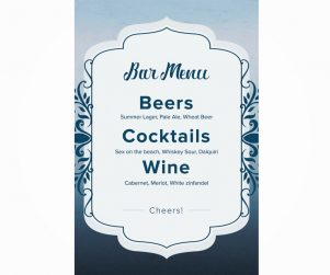 Bar Menu Option 4
