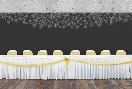 head table backdrop