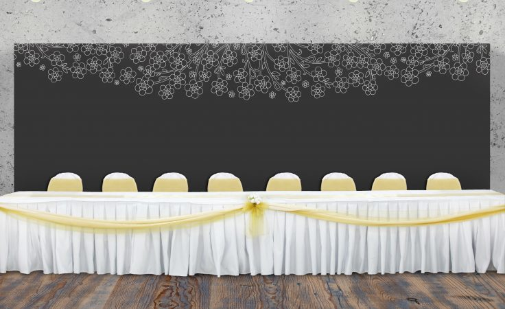 head table backdrop
