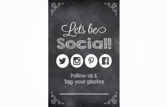 Social Media Sign Option 3