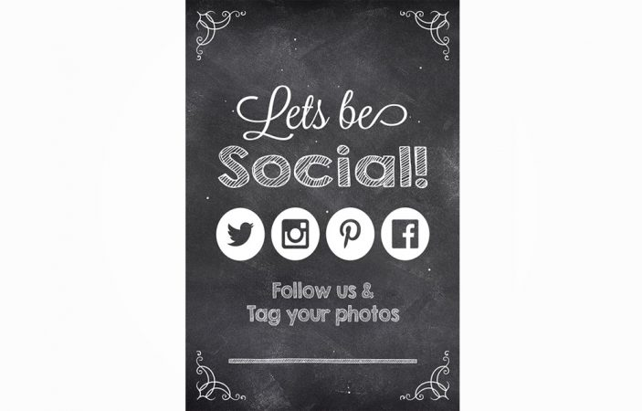 Social Media Sign Option 3