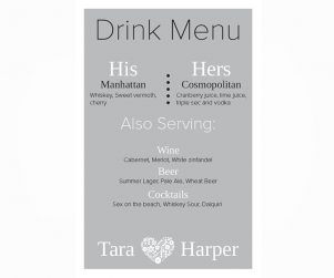 Bar Menu Option 14