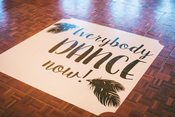 Dance floor decal