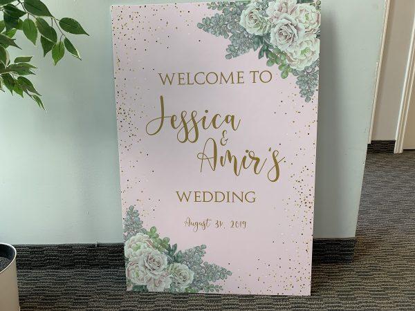 alternative wedding welcome signs