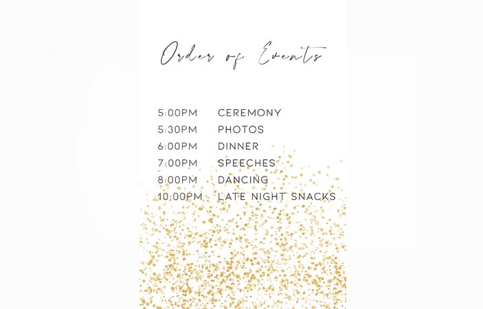 Order of Events Option 18